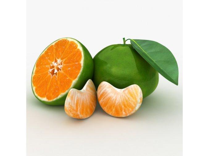 realistic green tangerine 3D model 0