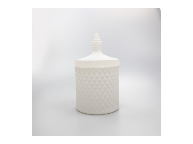 large 50cl geo candle glass frosted white