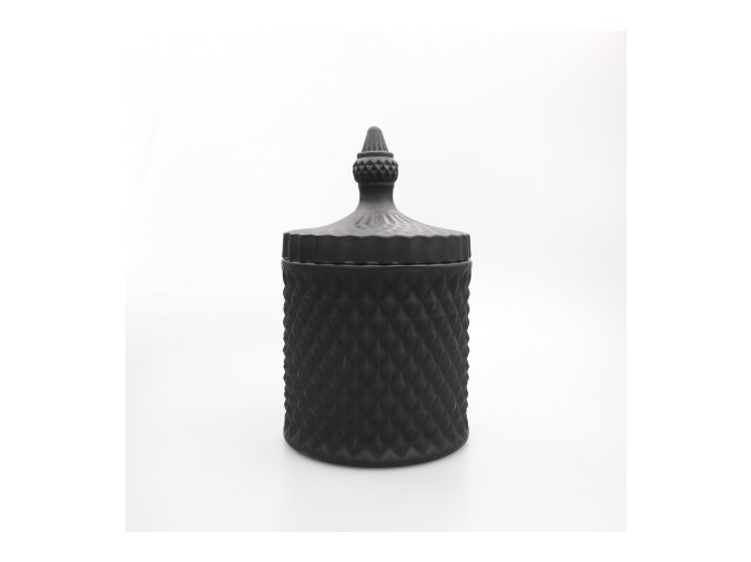 large 50cl geo candle glass matte black