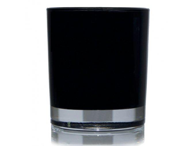 Black Glass Jar
