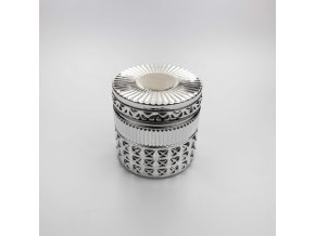 40cl diamond candle glass silver