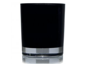 Black Glass Jar