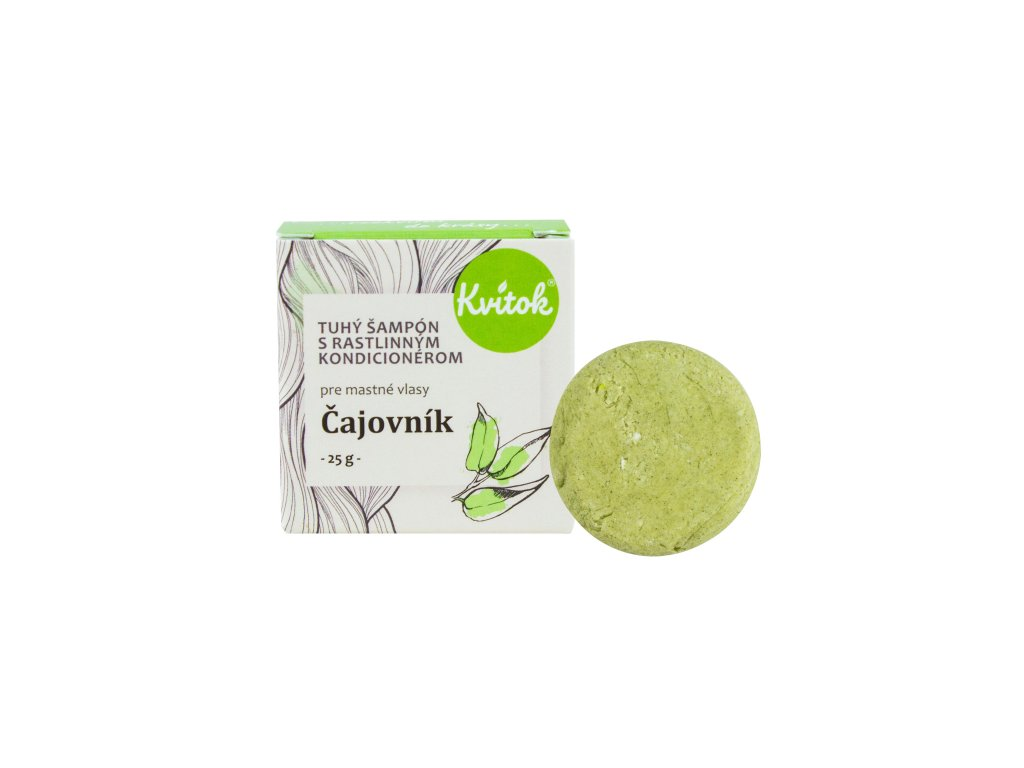Přírodní tuhý šampon s kondicionérem Čajovník pro mastné vlasy Navia/Kvitok