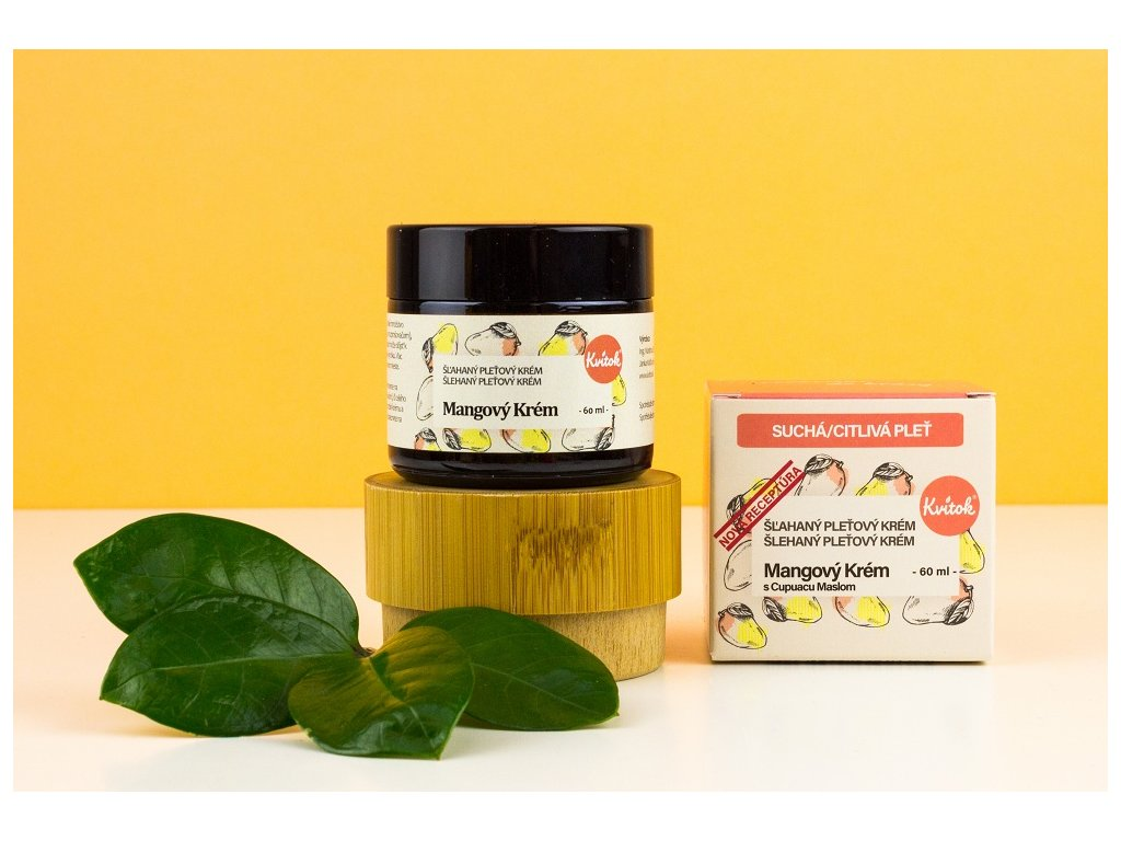 Mangový krém s cupuacu máslem pro suchou/citlivou pleť - Kvítok