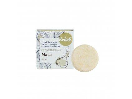 Přírodní tuhý šampon s kondicionérem proti vypadávání vlasů Maca Navia/Kvitok