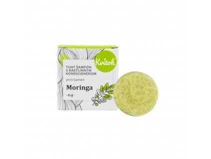Přírodní tuhý šampon s kondicionérem Moringa proti lupům Navia/Kvitok