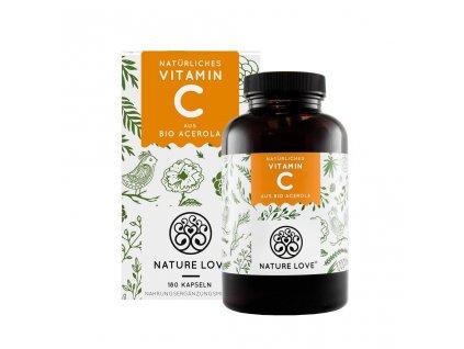 Bio přírodní vitamín C Acerola - na 3 měsíce - Nature Love