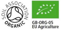 GB Soil Association a EU Organic logo, pravebio.cz