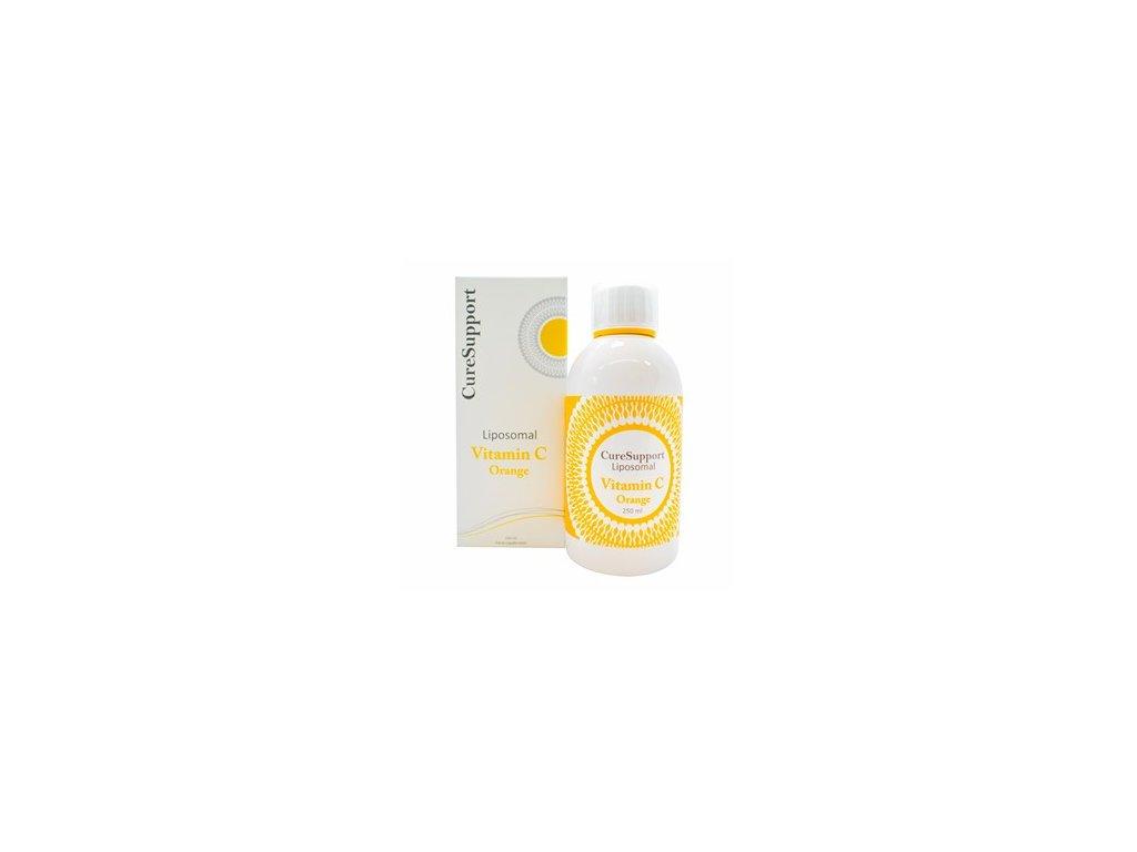CureSupport Liposomal Vitamin C 500mg 250ml pomeranč