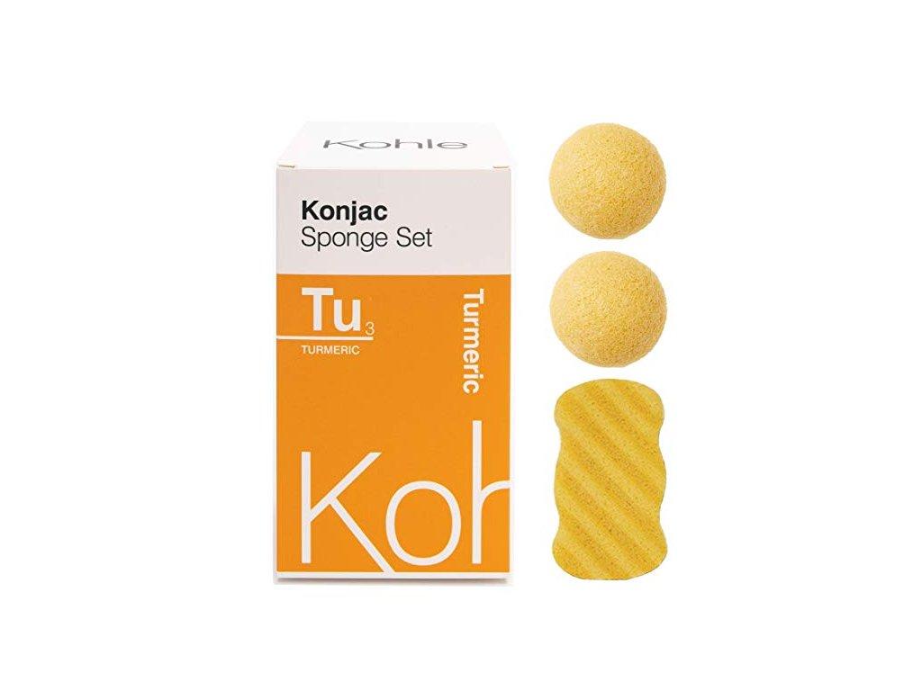 KOHLE Company   Konjac houbičky dárková sada Kurkuma   Natureforlife.cz