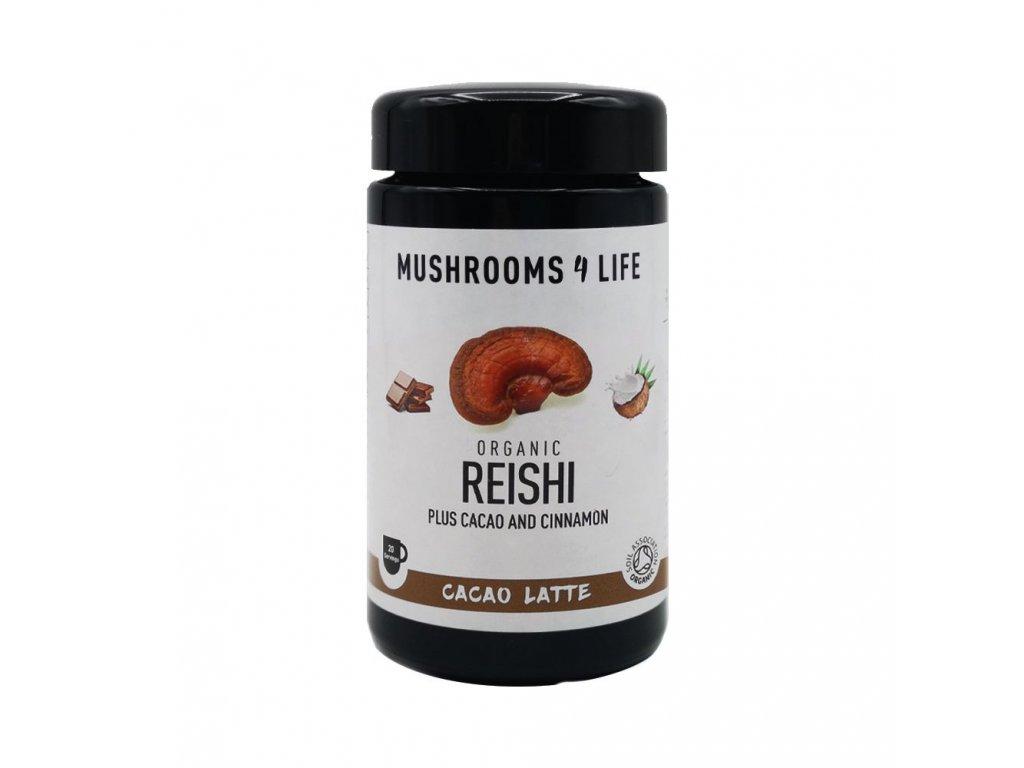 MUSHROOMS4 Life | Kokosové laté s houbou ganoderma 140g | Natureforlife.cz