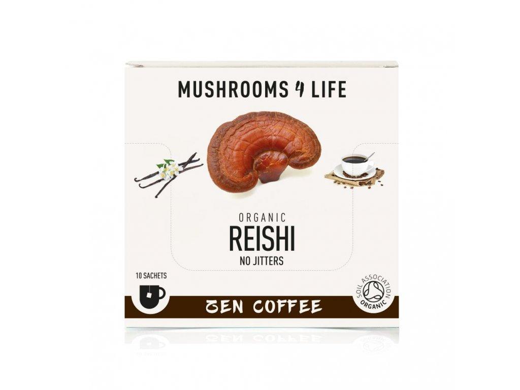 MUSHROOMS4 Life | Rozpustná káva s houbou reishi 32g | Natureforlife.cz