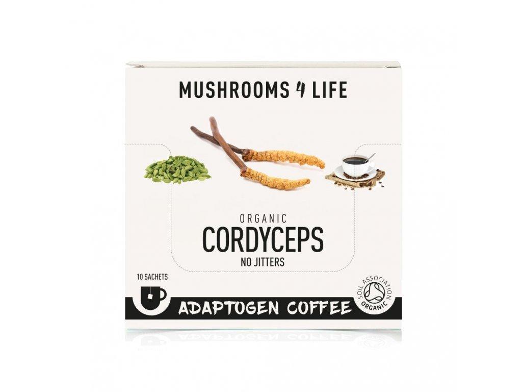 MUSHROOMS4 Life   Káva s houbou cordyceps 30g   Natureforlife.cz