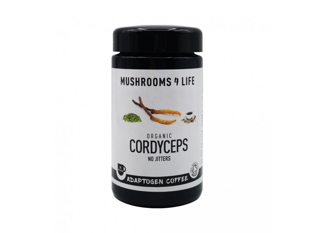 MUSHROOMS4 Life   Káva s houbou cordyceps 75g   Natureforlife.cz