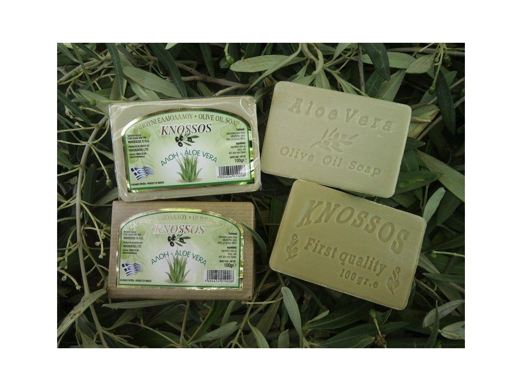 292 knossos olivove mydlo aloe vera 100 g