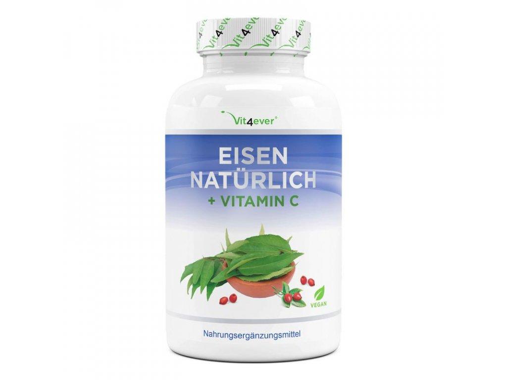 Vit4ever Přírodní železo + vitamin C 180 kapslí | Natureforlife.cz