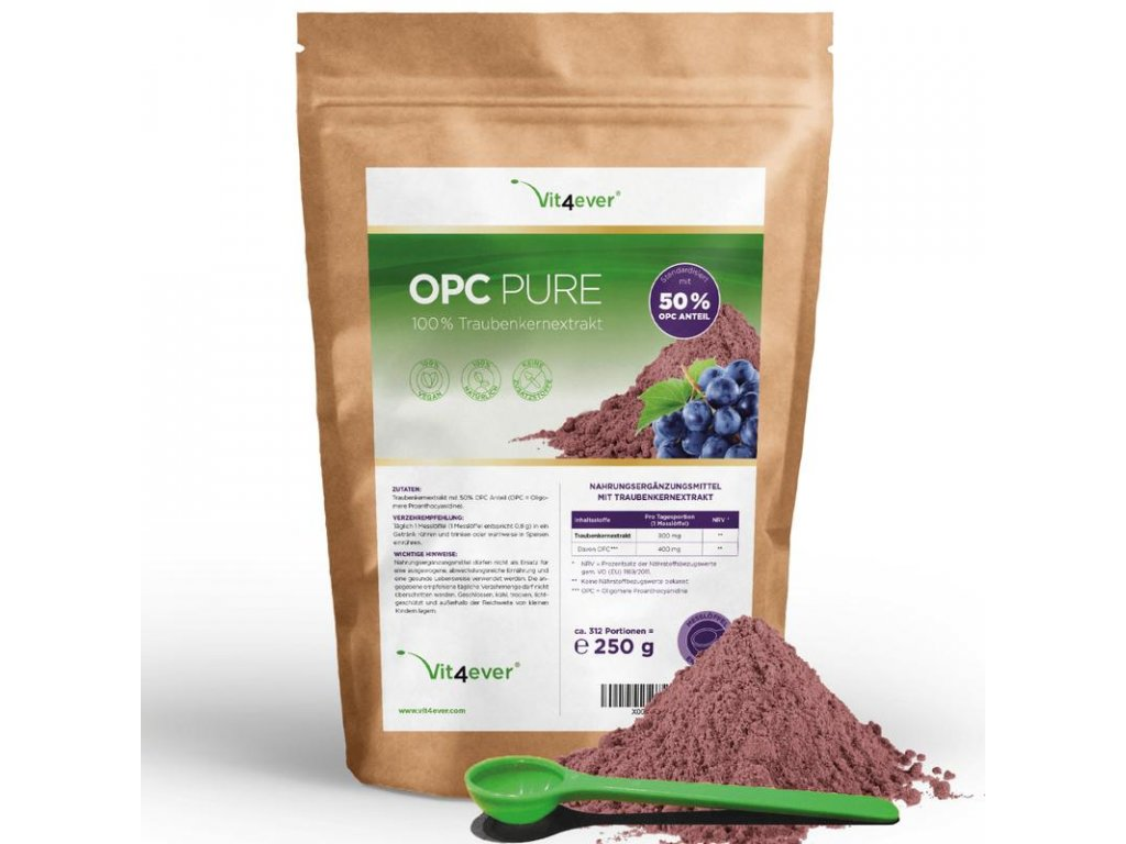 Vit4ever OPC Pure extrakt z hroznových jader 250g   Natureforlife.cz
