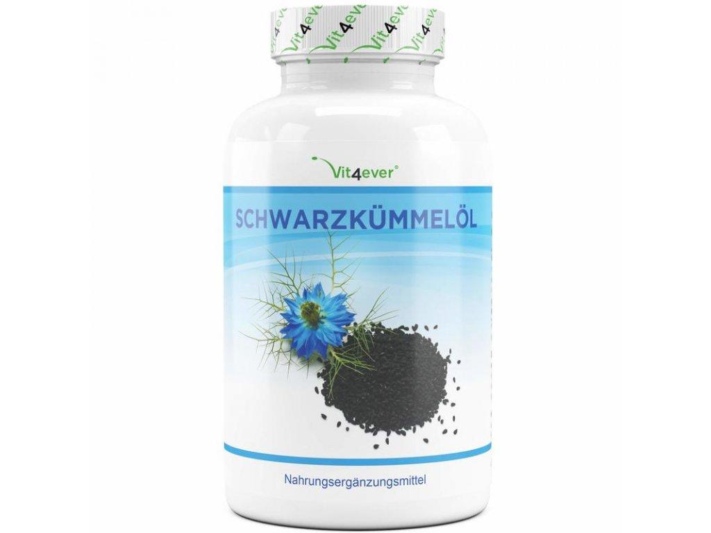 Vit4ever Olej z černého kmínu 500 mg 420 kapslí | Natureforlife.cz