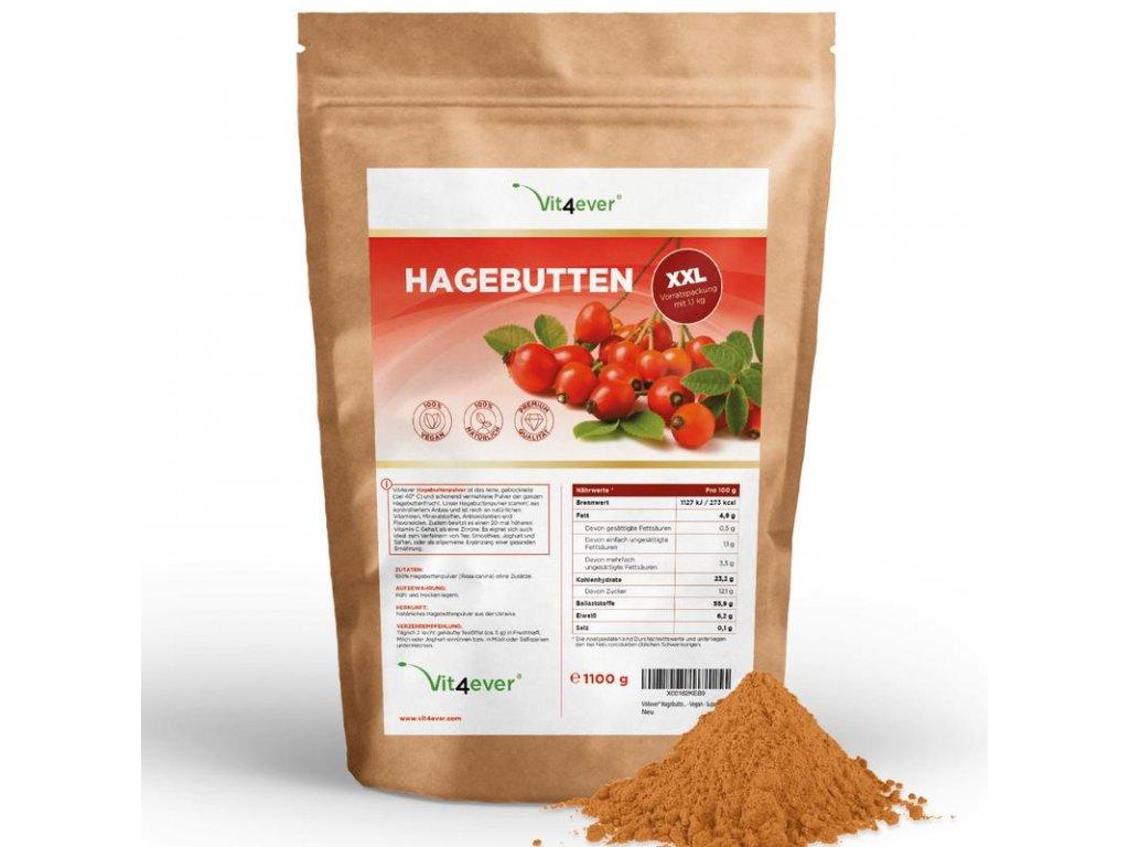Vit4ever Organický šípkový prášek 1100 g   Natureforlife.cz
