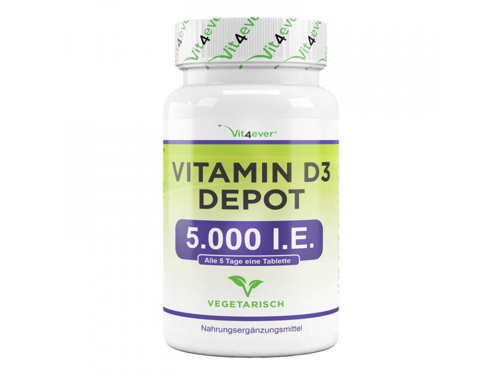 Vit4ever Vitamin D3 Depot 5000 IU 500 tablet | Natureforlife.cz