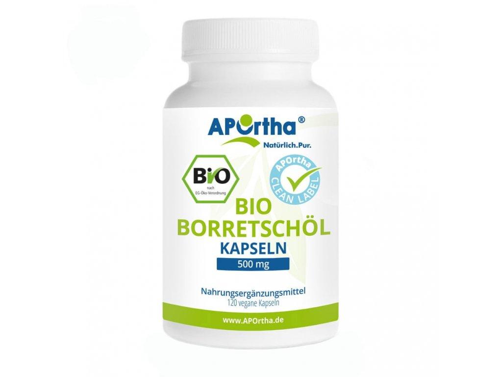Aportha Organický brutnákový olej 500 mg - 120 veganských kapslí