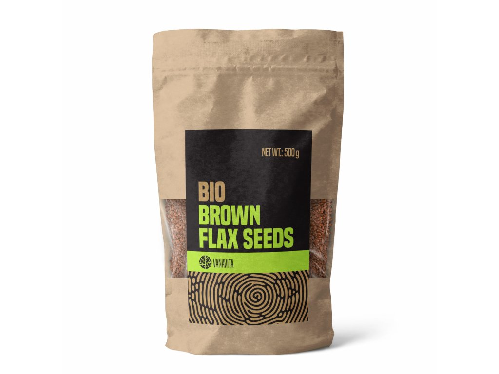 bio brown flax seeds 500 g vanavita 1