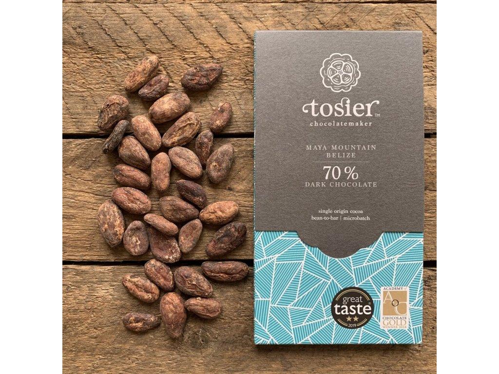 TOSIER CHOCOLATEMAKER Hořká čokoláda 70% KAKAO   Maya Mountain, BELIZE   Natureforlife.cz
