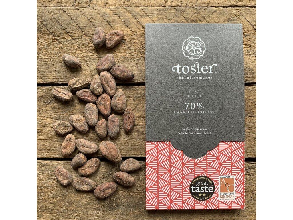 TOSIER CHOCOLATEMAKER Hořká čokoláda 70% KAKAO   Pisa, HAITI   Natureforlife.cz
