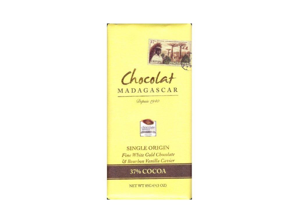 CHOCOLAT MADAGASCAR   BIO Bílá čokoláda s vanilkovým kaviárem 37% KAKAO   Natureforlife.cz