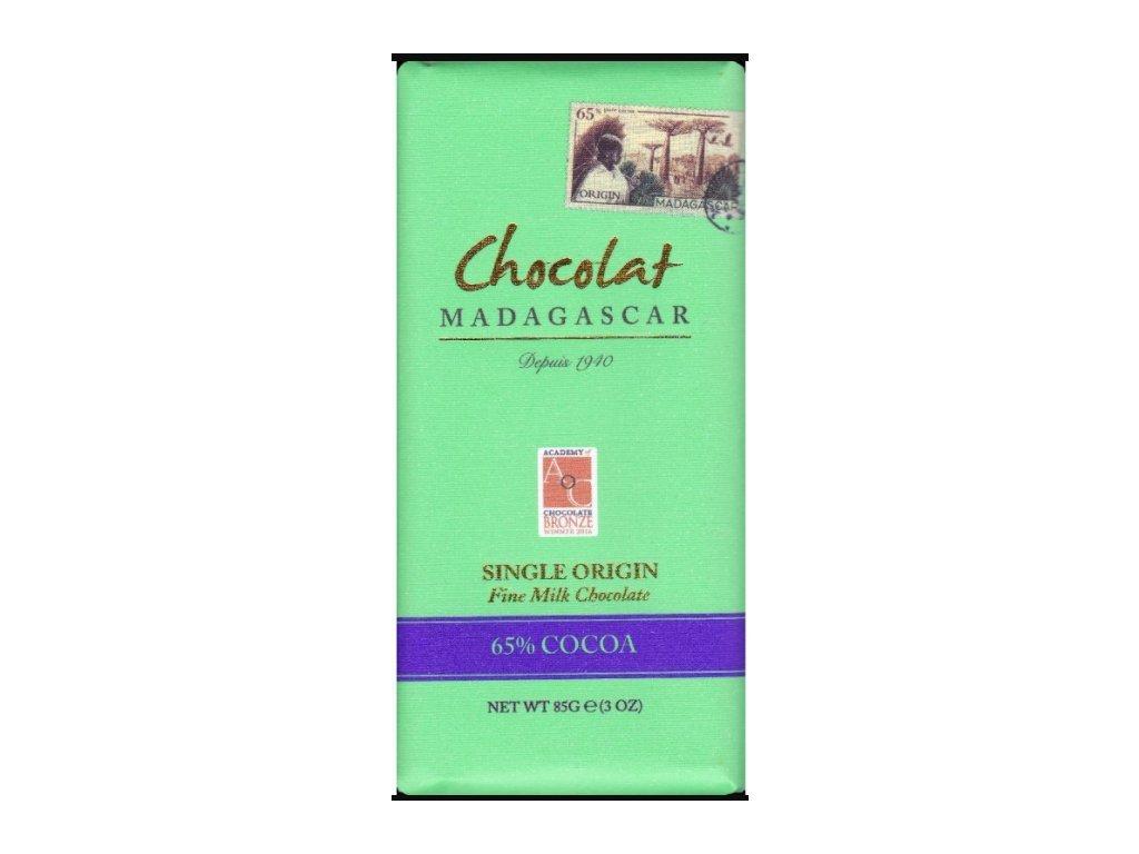 CHOCOLAT MADAGASCAR | BIO Mléčná čokoláda 65% KAKAO | Natureforlife.cz