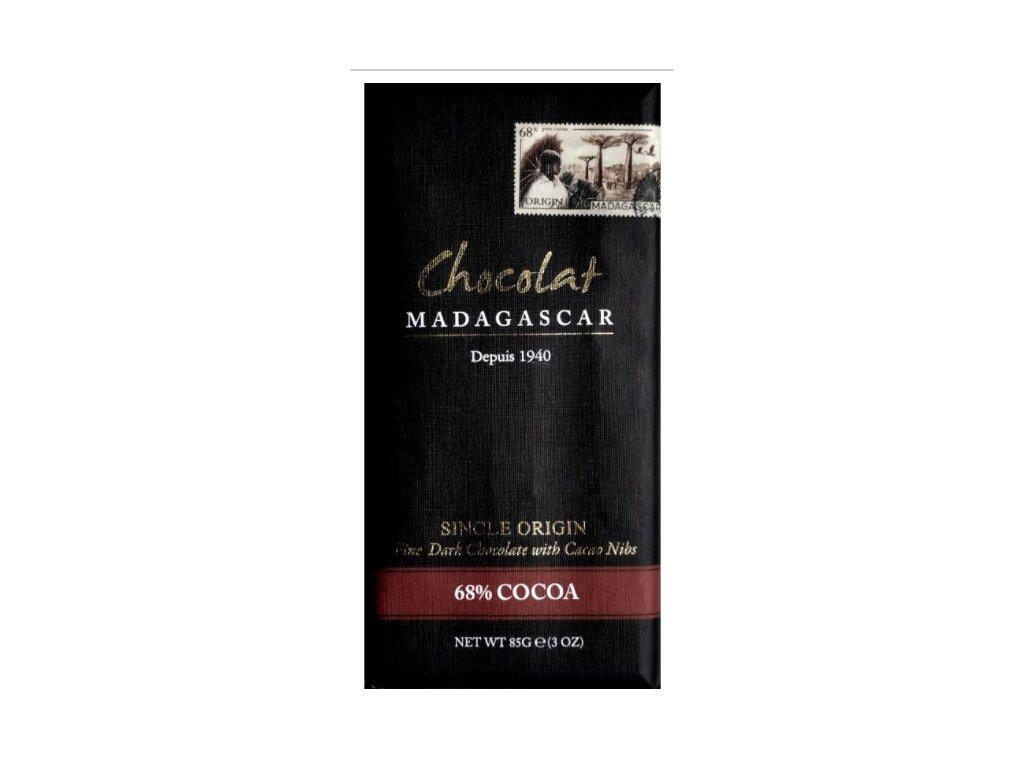 CHOCOLAT MADAGASCAR   BIO Hořká čokoláda s kousky kakaových bobů 68% KAKAO   Natureforlife.cz
