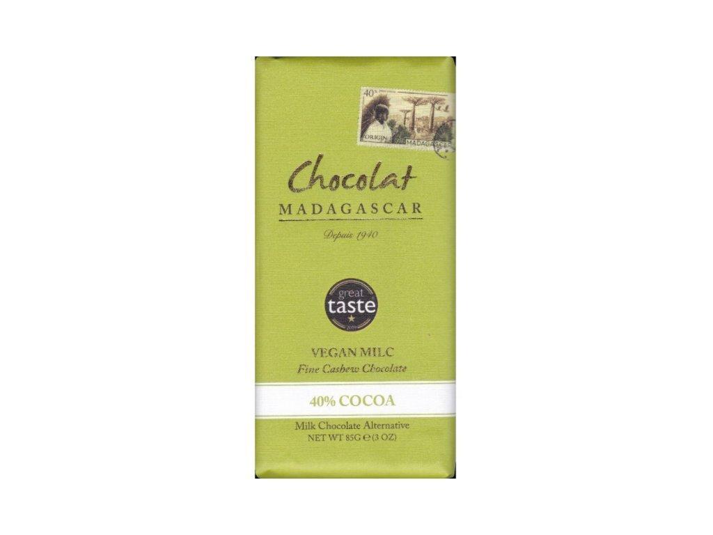 CHOCOLAT MADAGASCAR   Vegan čokoláda s kešu mlékem 40% KAKAO   Natureforlife.cz