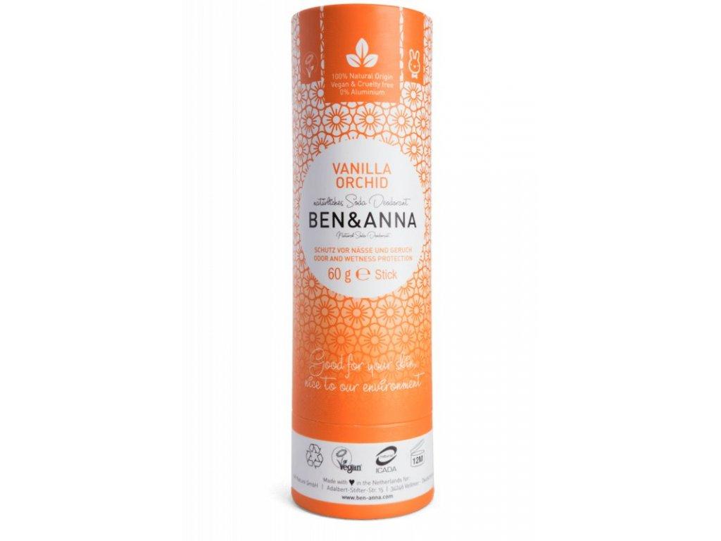 Ben & Anna   Tuhý deodorant - Vanilková orchidej   Natureforlife.cz