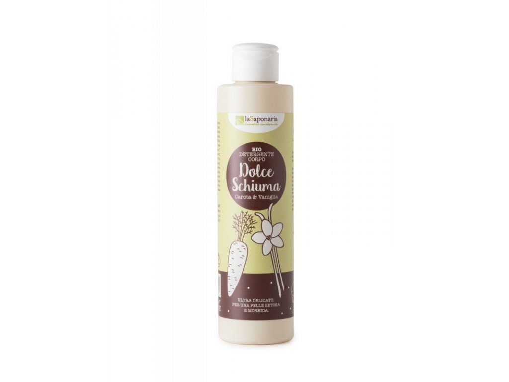 laSaponaria Jemný čisticí sprchový gel s mrkví a vanilkou Natureforlife