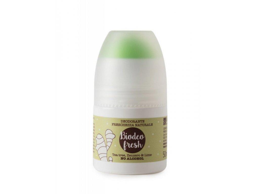 laSaponaria Deodorant roll-on osvěžující se zázvorem a citrónem BIO (50 ml)