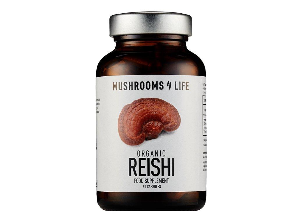 MUSHROOMS4 Life   Extrakt Vitální houby REISHI 60 kapslí   Natureforlife.cz