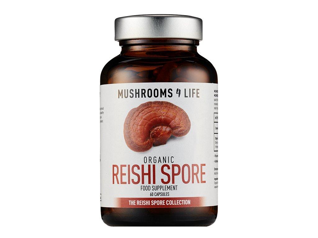 MUSHROOMS4 Life | Vitální houba REISHI SPÓR 60 kapslí | Natureforlife.cz