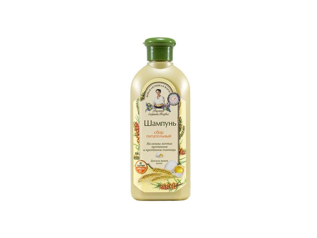 Babička Agafia | Vyživující šampon s vaječným proteinem | Natureforlife.cz