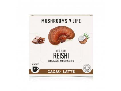 MUSHROOMS4 Life | Kokosové laté s houbou ganoderma 70g | Natureforlife.cz