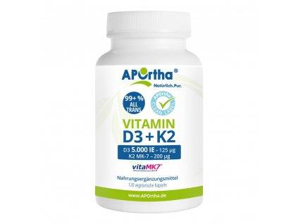 Aportha | Vitamin D3 + Vitamin K2 VitaMK7 | Natureforlife.cz