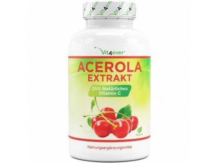 Vit4ever Extrakt z aceroly   1 500 mg - 25% přírodního vitaminu C 240 kapslí   Natureforlife.cz
