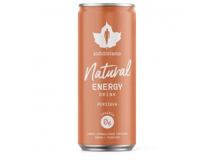 1.natural energy drink peach 330 ml
