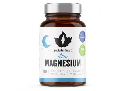 1 Night Magnesium Puhdistamo 120 kapsli