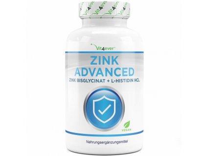 Vit4ever Zink Advanced   Zinek bisglycinát 25mg + L-histidin 25mg 400 tablet   Natureforlife.cz