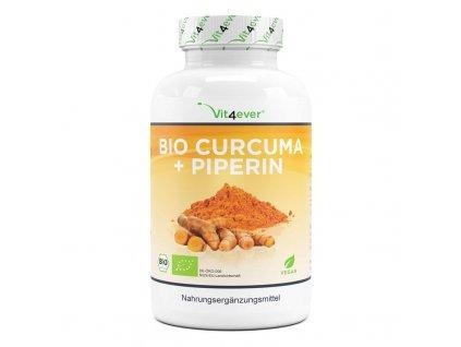 Vit4ever BIO kurkuma 750 mg 5% curcumin + 10 mg piperine 365 kapslí | Natureforlife.cz