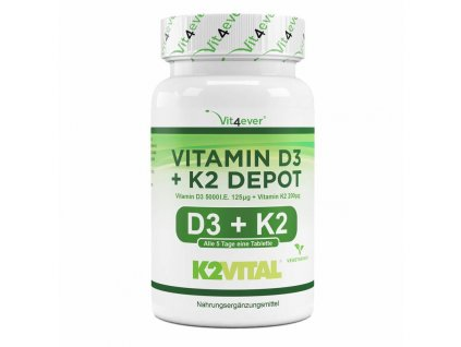 Vit4ever Vitamin D3 5 000 IU + vitamin K2-MK-7 VITAL 365 tablet | Natureforlife.cz