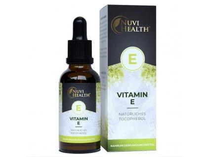 Nuvi Health Vitamin E - 100 IU na kapku   Natureforlife.cz
