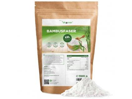Vit4ever Bambusová vláknina 1100 g | 96% dietní vláknina | Natureforlife.cz