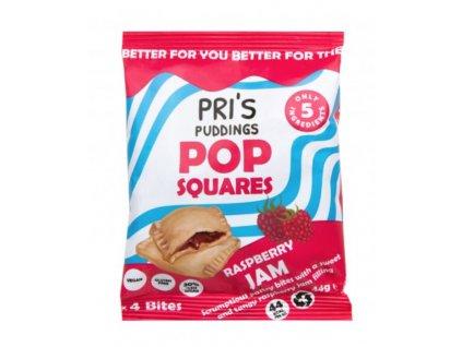 PRI'S PUDDINGS | Pop Squares taštičky s malinovým džemem | Natureforlife.cz
