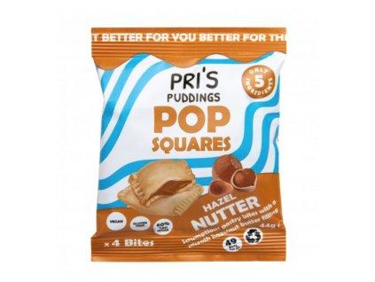PRI'S PUDDINGS | Pop Squares taštičky s lískooříškovou náplní | Natureforlife.cz